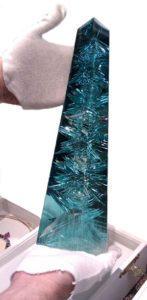 The largest aquamarine stone ever found
