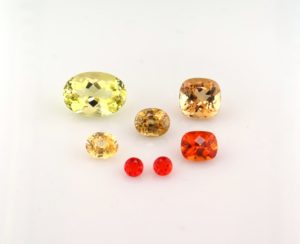 orange and yellow gemstones