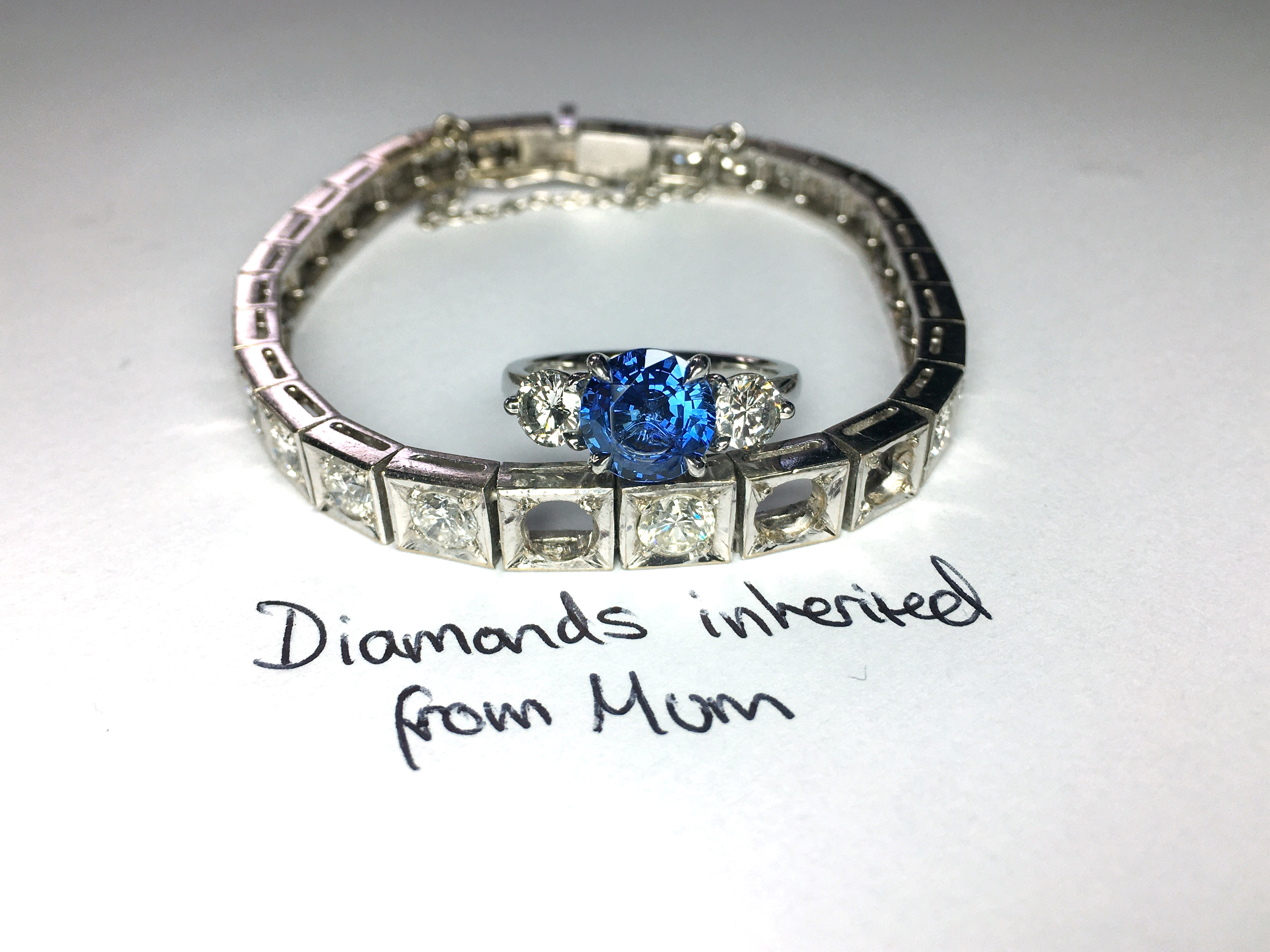 inherited and recycled diamonds